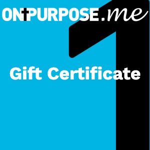 ONPURPOSE.me Christian gift certificate